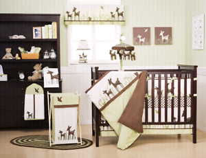 Willow deer crib bedding