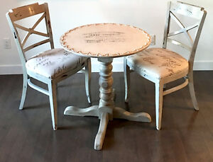 One of a Kind Design: Cafe Table and Two Chairs