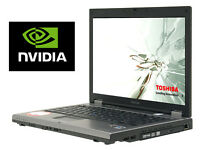 "Gaming Toshiba Tecra Laptop with Nvidia Graphics, 4Gb, 250GB, Wifi, DVD-R, 15.4"" Widescreen"