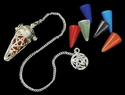 Pentagram Cage Pendulum Wiccan Wicca Witchcraft Supplies