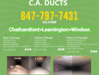 CLEANING Air Ducts and Vents Furnace.