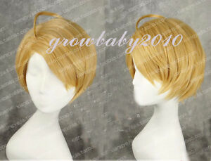 APH Axis Powers Hetalia America USA Alfred pre-styled ash blonde Cosplay wig
