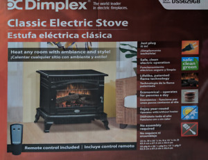 Dimplex Lincoln Gloss Black Electric Fireplace Stove with Remote