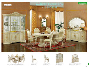 Dining room sets, Tables, Chairs, 2- and 4-door Buffets