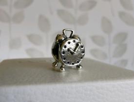 PANDORA - Genuine Authentic Alarm Clock Charm - Sterling Silver