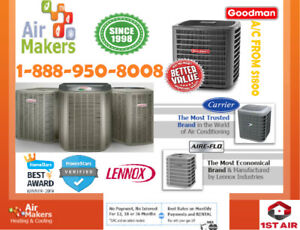 Air Conditioner on SALE CARRIER | LENNOX | GOODMAN from 1700