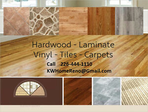 Hardwood-Laminate-Vinyl-Ceramic Floorings.   No job is Too Big Kitchener / Waterloo Kitchener Area image 2