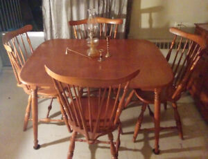 Dining Set - Solid Maple Table, Chairs and Buffet