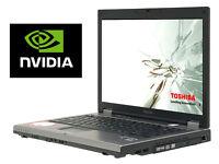 "Gaming Toshiba Tecra Laptop with Nvidia Graphics, 4Gb, 250GB, Wifi, DVD-R, 15.4"" Widescreen"