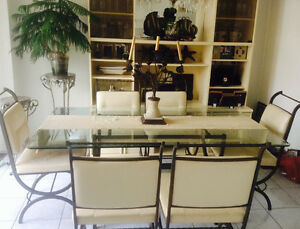 Dining table and wall unit