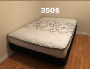Queen Mattress +Springbox+Bed frame