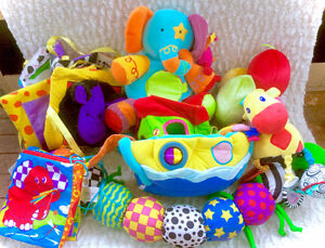 Large Lot Of Baby Plush Plushies Soft Toys Books Etc