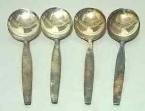 Oneida Community Round Bowl Soup Spoons (Gumbo) in Silver Sands