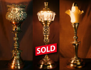 Unique and original, one-of-a-kind table/desk lamps