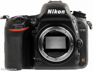 NIKON D750 full frame DSLR body.....only 1,321 actuations !!!!