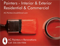 Painters - Interior & Exterior - Residential & Commercial - Low