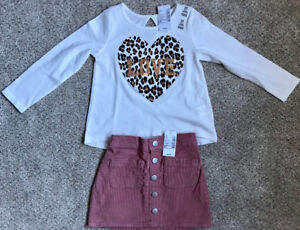 NWT - Girls Long Sleeve Top & Skirt from Children's Place - 2T