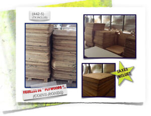 (#-10)-451 PLYWOODS \(Coins-Ronds) > (2x)Dimensions - 3.99$ /ch.