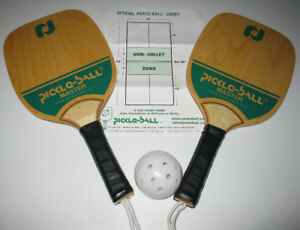 2 Like NEW PICKLE-BALL PADDLES WITH BALL AND INSTRUCTIONS