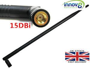 High quality Antenna HIGH GAIN Wireless Enhancer 15DBi Aerial WiFi UK