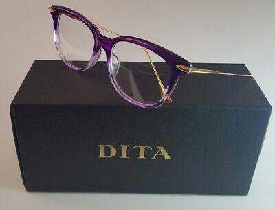 DITA CHIC DRX-3035-C-PUR-52 WOMEN'S PURPLE 18K GOLD OPTICAL FRAME MADE IN (Dita Optical)