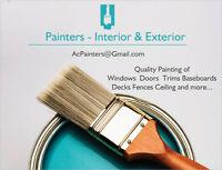 Painters - Decks Fences Walls Windows Doors Trims & Ceilings