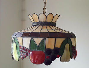 Home - indoor -stained glass tiffany style hanging light fixture