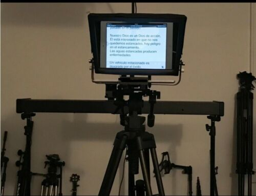 """New- 12"""" screen, Adjustable Teleprompter for 10"""" Tablet-iPad-Smartphone. Hq"""