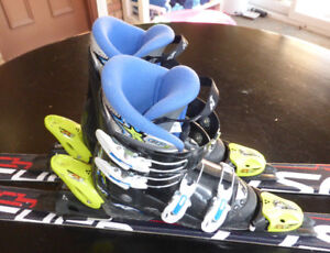 Fischer RC4 Skis (130cm) with Boots and Bindings