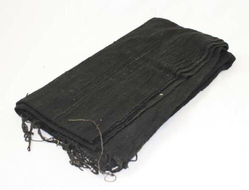 African Mud Cloth Fabric Bambara | Handwoven Mali Mudcloth ( Plain Black )