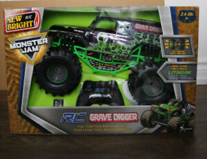 **[New In box never used]** New Bright Monster Jam Grave Digger