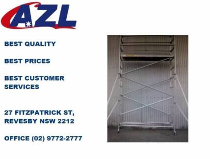 New Aluminium Mobile Scaffold 4m High for Sale!