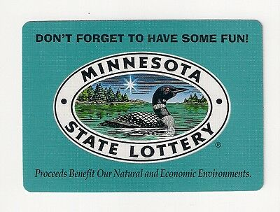 poker size deck playing cards from Minnesota State Lottery, loon, environments