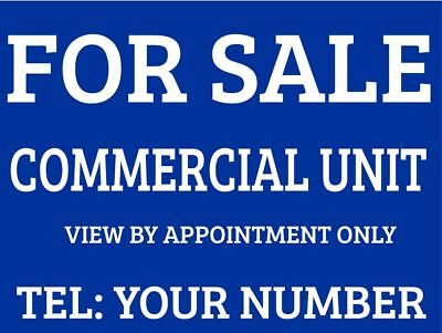 Commercial Unit For Sale Sign Boards x2
