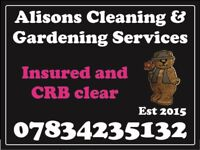 Alison the Girl gardener and Cleaning services