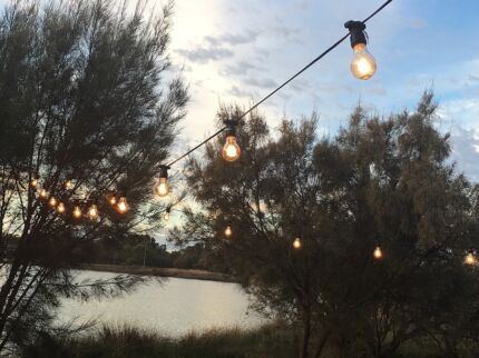 Outdoor Festoon Light Hire - String Lighting Hire - Party Hire