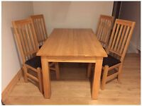 Oak Lounge and Dining Room Furniture Bundle