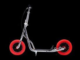 Kick bike, Chrome & Red - Scooter