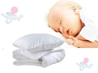 Bobono Baby Steppbett Bettdecke Decke Kissen 135x100cm für Bett 140x70 120x60