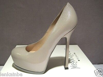 Kyпить YSL Yves Saint Laurent TribToo 105 Pumps Shoes Stone Beige 40.5 10.5 $795 на еВаy.соm