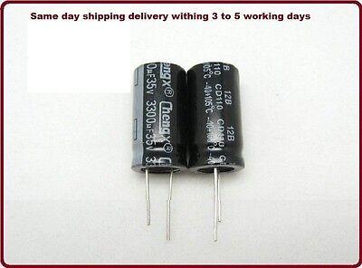 3300uf 3300 Mfd 35 105c Electrolytic Capacitor  15 Pcs