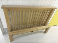 Beautiful solid oak double size bed frame with clean mattress great condition