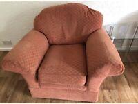 M&S fireproof fabric armchair