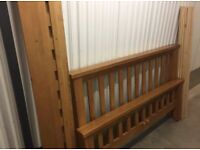Solid wood king size bed frame, great condition with free optional mattress, can deliver
