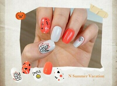 Ohora Self Gel nail art stickers patch Halloween collection N summer vacation