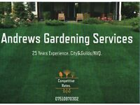 Andrews Gardening Services.