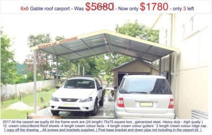 gable carport  6  x  6   $  1780
