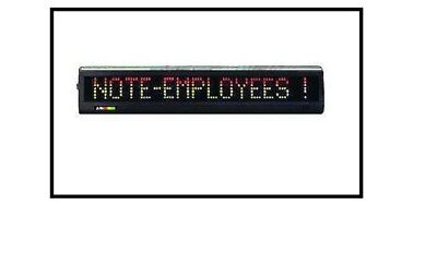 New-led Tri-color Programmable Message Sign Display 24 L X 2.1h Alpha-215c