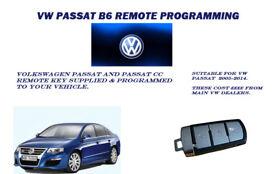 VOLKSWAGEN PASSAT and PASSAT CC REMOTE KEY