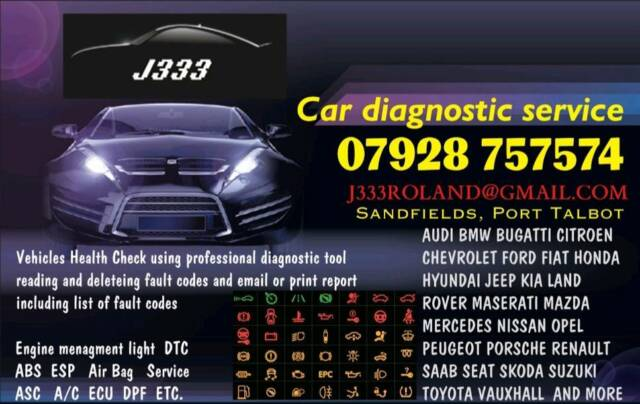 Car Diagnostic Service Vehicles Health Check Warning Engine management  light ABS ESP Airbag ECU etc | in Port Talbot, Neath Port Talbot | Gumtree